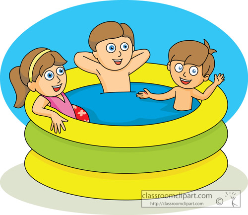 Download kids in kiddie pool summer 03aKids Pool Clip Art