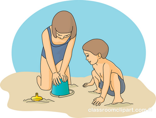 Download sand bucket beach kidsKids Playing On The Beach Clipart