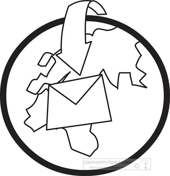 letter-sent-around-the-world-black-outline-clipart.jpg