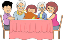 Family Thanksgiving Dinner Clipart Size 676 Kb