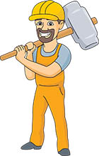 Construction Worker With Club Or Lump Hammer Size 60 Kb From Tools