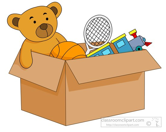 Toy Box Clip Art : Toys open box filled with kids clipart
