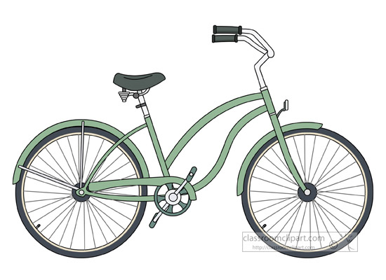 Bike On The Beach Clip Art  Clipart Free Download