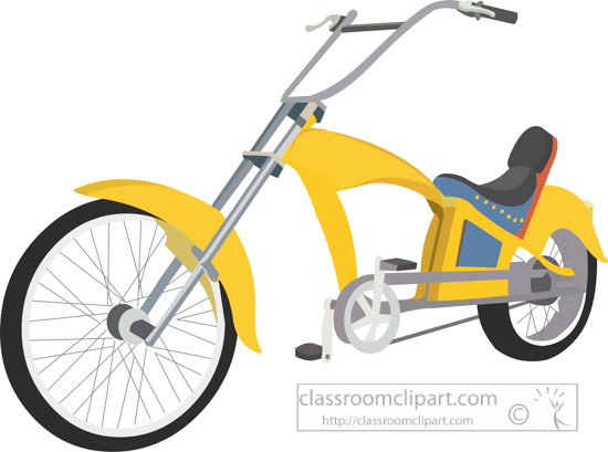 bicycle-clipart-yellow-chopper-style-bike-08A.jpg