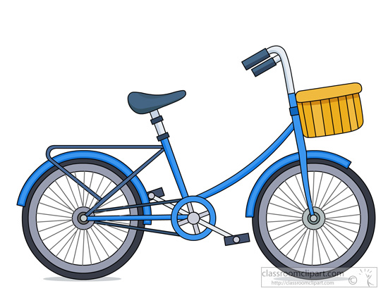 Bicycle Clipart- kids-bicycle-with-basket-clipart-943 ...