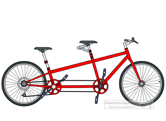 bicycle clipart tandem bike clipart 5129 classroom clipart rh classroomclipart com tandem bike clip art wedding wedding tandem bike clipart
