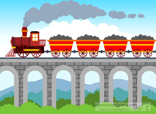 rain-loaded-with-coal-riding-over-the-bridge-clipart.jpg