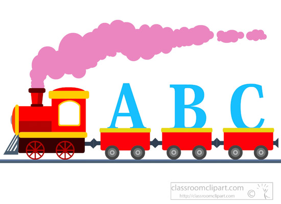 train clipart train with letters abc learning clipart classroom rh classroomclipart com clipart abc clipart backing