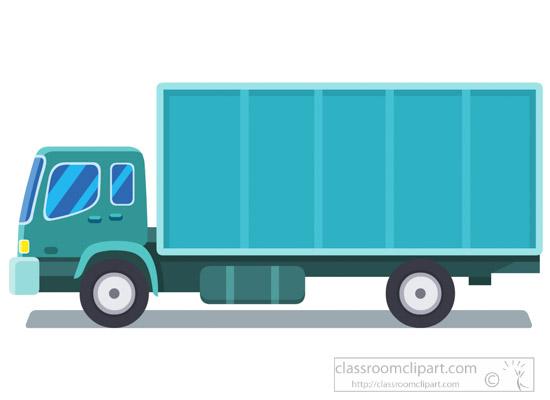 Blue-conainer-truck-transportation-clipart