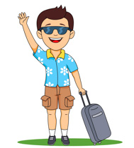 Clip Art Traveling Clipart free travel clipart clip art pictures graphics illustrations man holding travelling bags and smiling size 60 kb