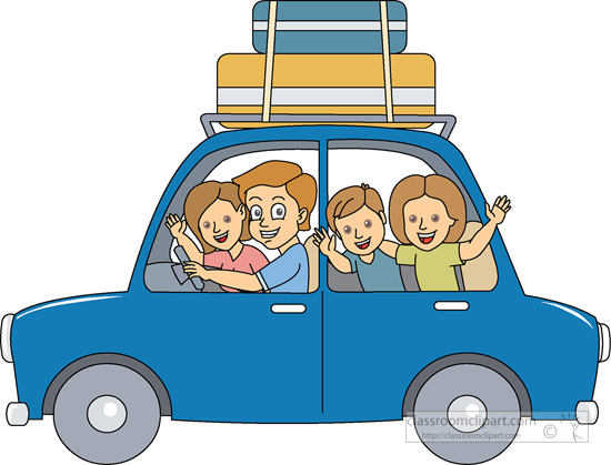 Travel : family-summer-vacation-01 : Classroom Clipart