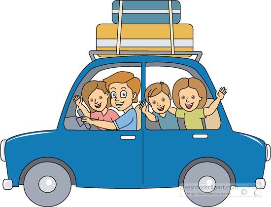 Travel : family-summer-vacation-01 : Classroom Clipart