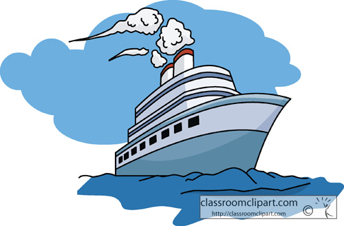 Travel Clipart- travel_08_cruise_ship - Classroom Clipart