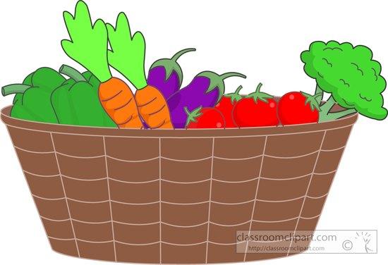 Basket Of Vegetables Clipart : Vegetables basket of fresh clipart