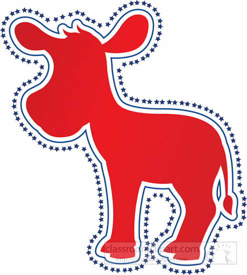Voting : democratic-party-symbol-donkey-clipart : Classroom Clipart