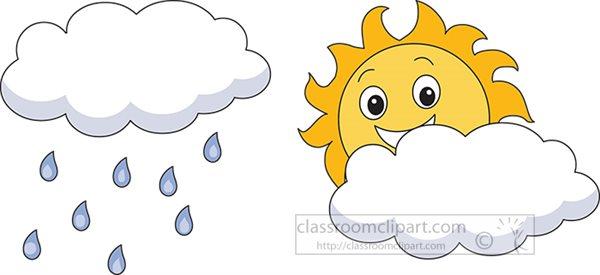 weather clipart sun hidden behind clouds clipart 67567 classroom rh classroomclipart com Sun Clip Art sun behind clouds clipart