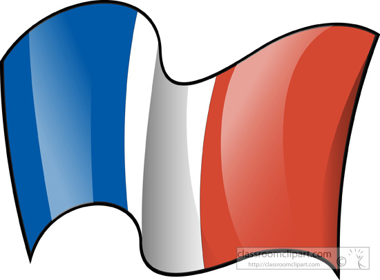 Clip Art French Flag Clipart world flags france flag waving 3 classroom clipart jpg