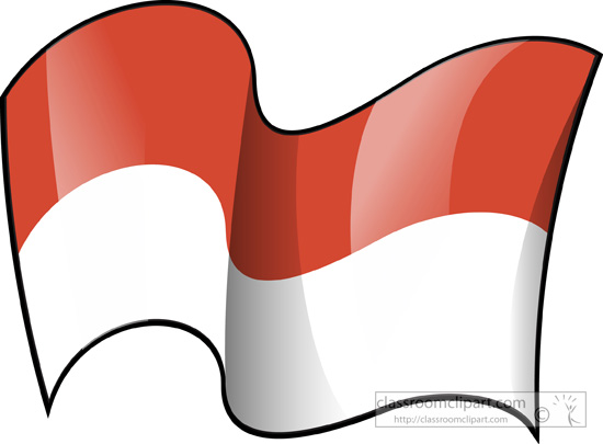 Zebra Print Clip Art World Flags : Indonesi...