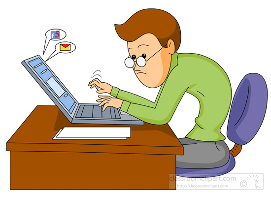 Computers Clipart Photo Image - man-working-on-a-computer ...
