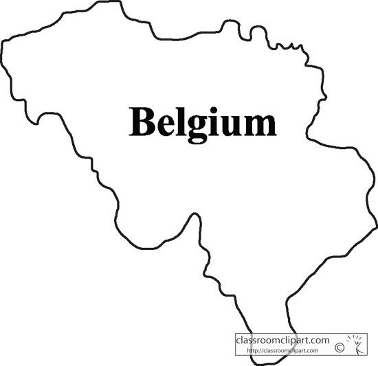belgium map outline