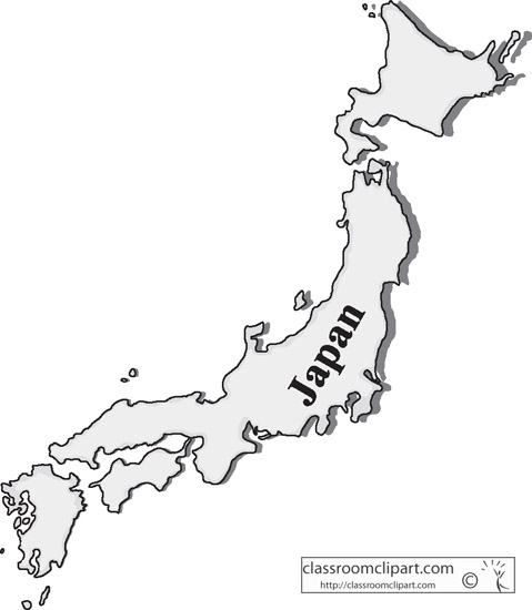 Japan Clipart Japangraymap Classroom Clipart - Japan map black and white