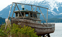 Old Wooden Boat Along The Shore Alaska Photo 635bcc Size 339 Kb From