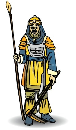 Ancient China : chinese_warrior : Classroom Clipart