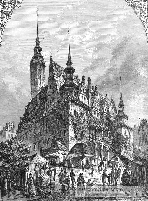 town-hall-germany-Brieg-historical-engraving-020.jpg