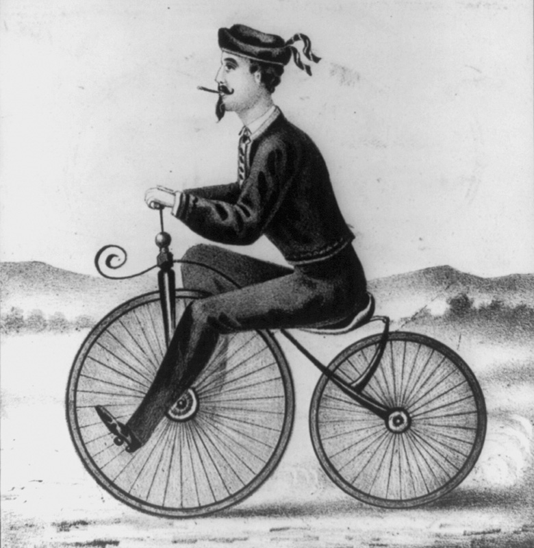 Velocipede two wheel bicycle historic illustration.jpg